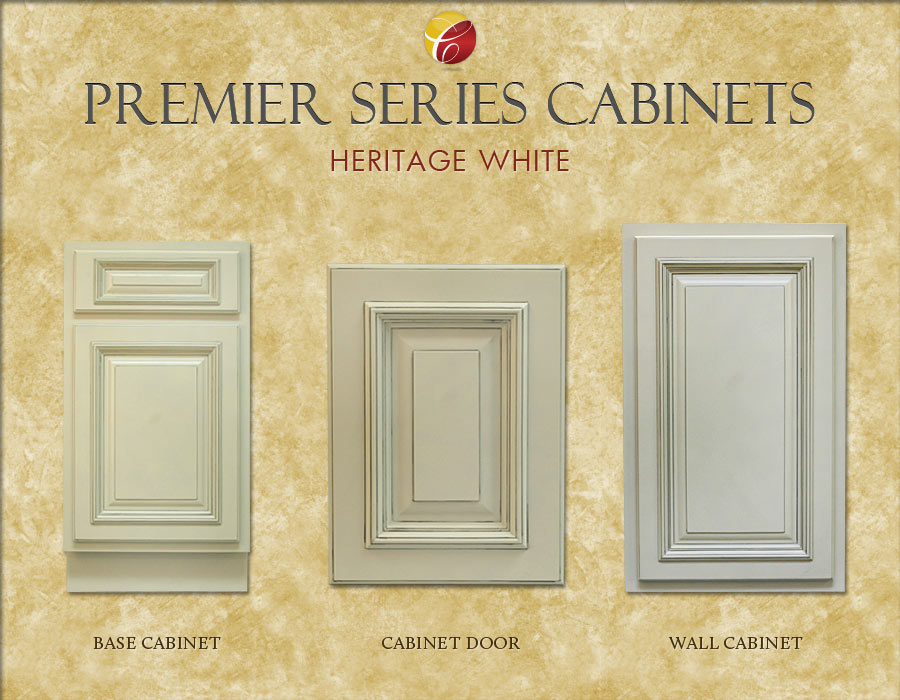 Premier Series. Heritage White Cabinets